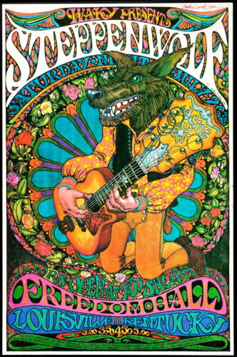"""1960/'s Retro Concert Promo Posters.. A1,A2,A3,A4 Sizes /""""STEPPENWOLF/"""" .."""
