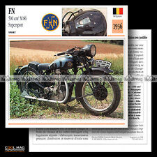 #093.11 FN FABRIQUE NATIONALE 500 M86 SUPERSPORT 1936 Fiche Moto Motorcycle Card