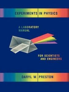 Details about Experiments in Physics : A Laboratory Manual for Scientists  and Engineers, Pa