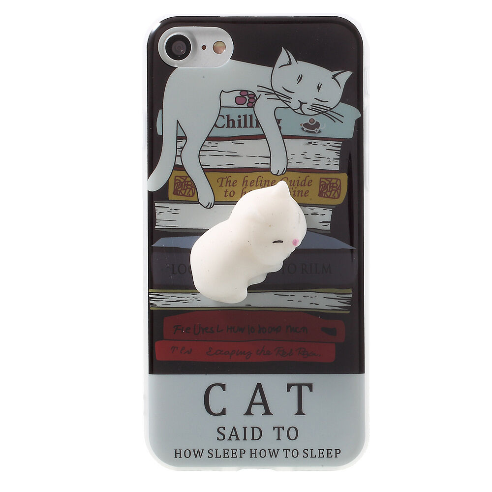 Squishy Cat Case : Squishy 3D Soft Silicone Cat Phone Case Cover for iPhone5S SE 6 6S 7 plus WZ