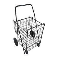 Folding Shopping Cart Utility Trolley Portable For Grocerylaundrytravel