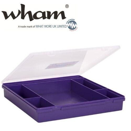 Wham ® 23355 anneaux 6-compartiments violet environ 38x39x6cm sortierkasten Assortiment encadré