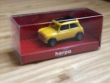 neuw.//ovp 1:87 Herpa 022330 Mini Cooper gelb Faltdach