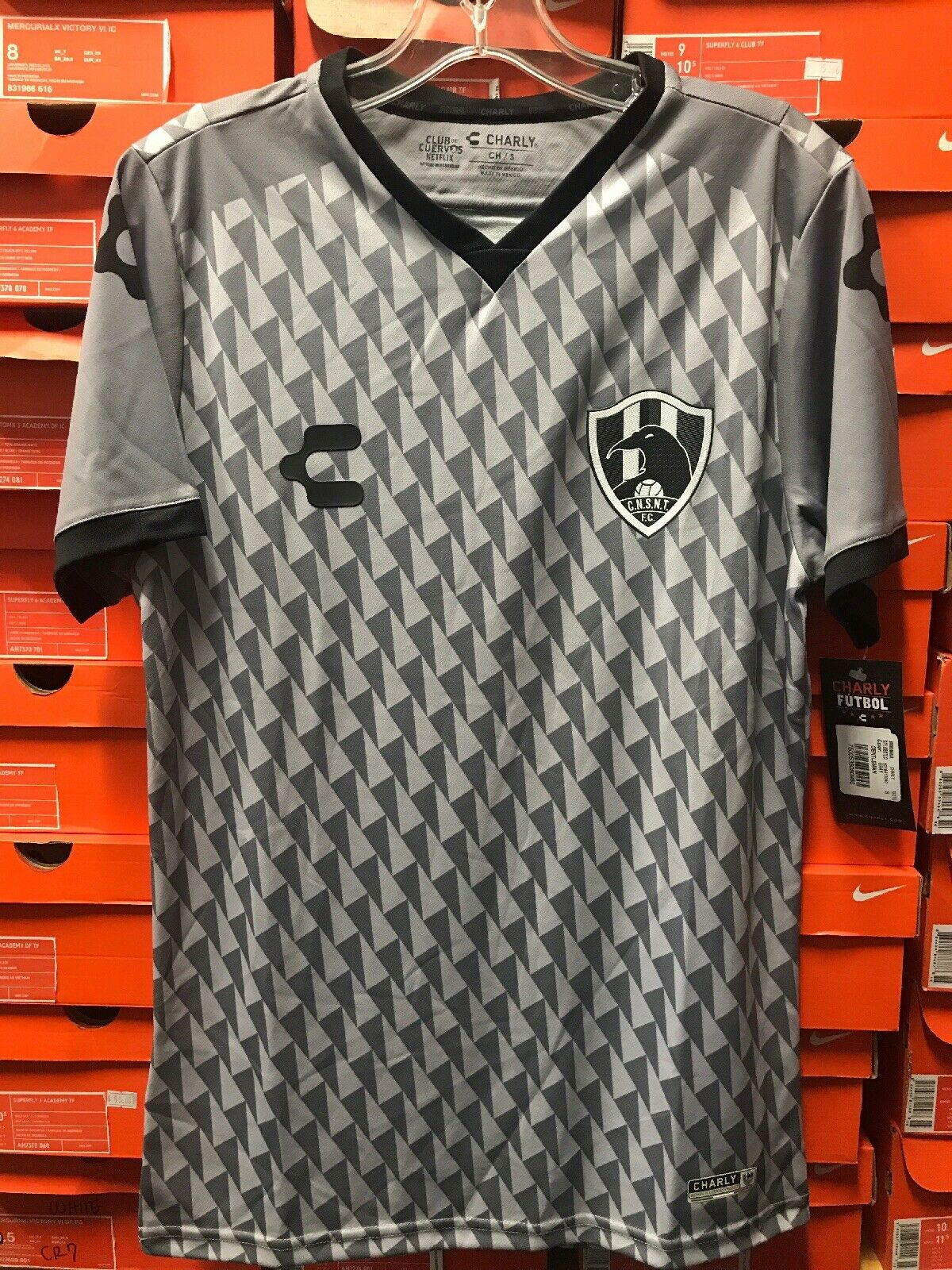 Club de cuervos temporada 4 Jersey 2019 Marca Charly Talla XL Talla XL