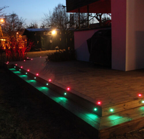 10Pcs RGB 22 mm 12 V Outdoor Yard Landscape DEL Deck Stair Step Lights spotlights