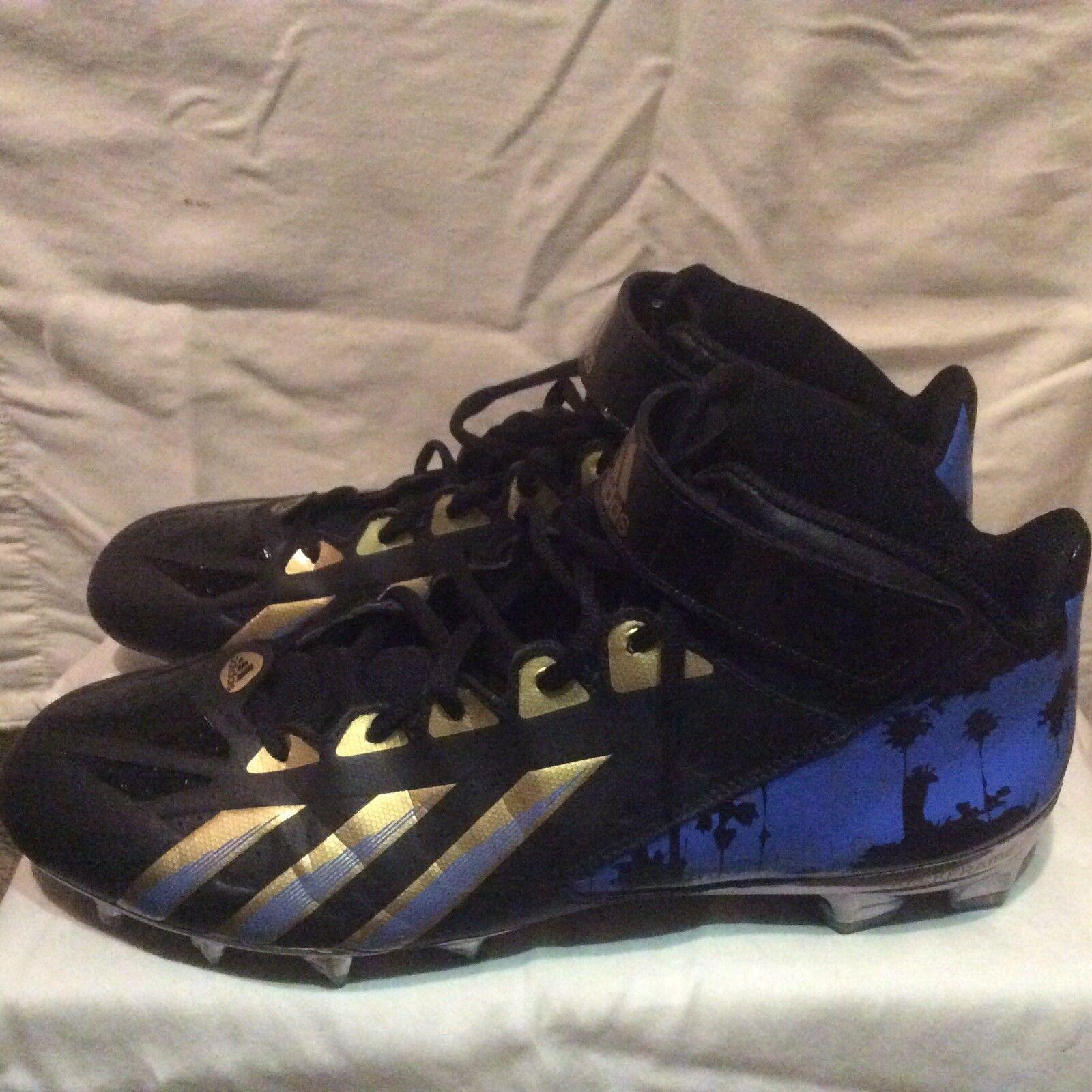Adidas UCLA Football  LA Nights  2013 Cleats Size 15