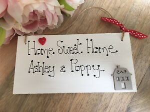 Personalised-First-Home-Sweet-Home-sign-heart-plaque-gift-new-home-family