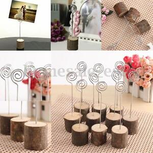 24Pcs Wooden Base Table Number Photo Name Card Stand Holder Weeding Party Decor