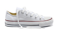 Women ALL STARs Chuck Taylor Ox Low Top casual White Canvas Sneakers US 8.5