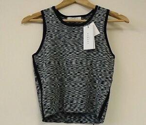 4 Sandro Size uk Top Sleeveless Black Paris HPqwS7U