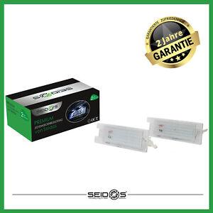 SMD-LED-Kennzeichenbeleuchtung-OPEL-ALFA-ROMEO-FIAT-E-Geprueft-kaltweiss-Seidos