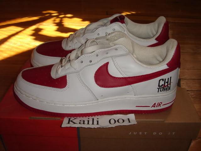 Nike Air Force 1 Sz 7.5 Chi-town COF OG Vintage Atmos B