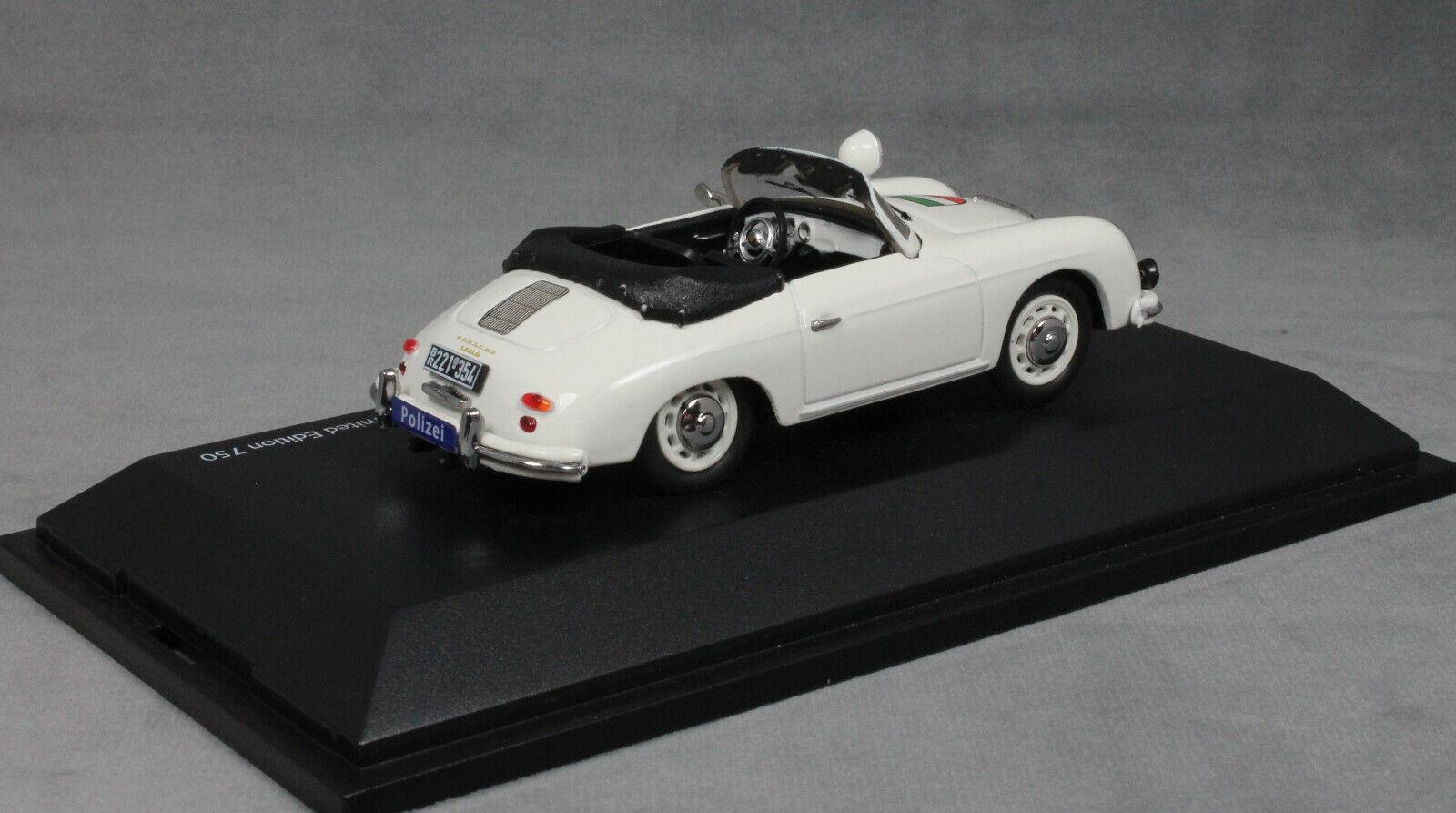Schuco Porsche 356A 356A 356A Cabrio Policía Alemana Polizei' ' 450256600 Ltd 750 1 43 Nuevo 97e710