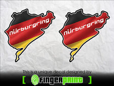 NURBURGRING jdm Bumper vinyl sticker decal Window Car Bumper Hand toyota honda