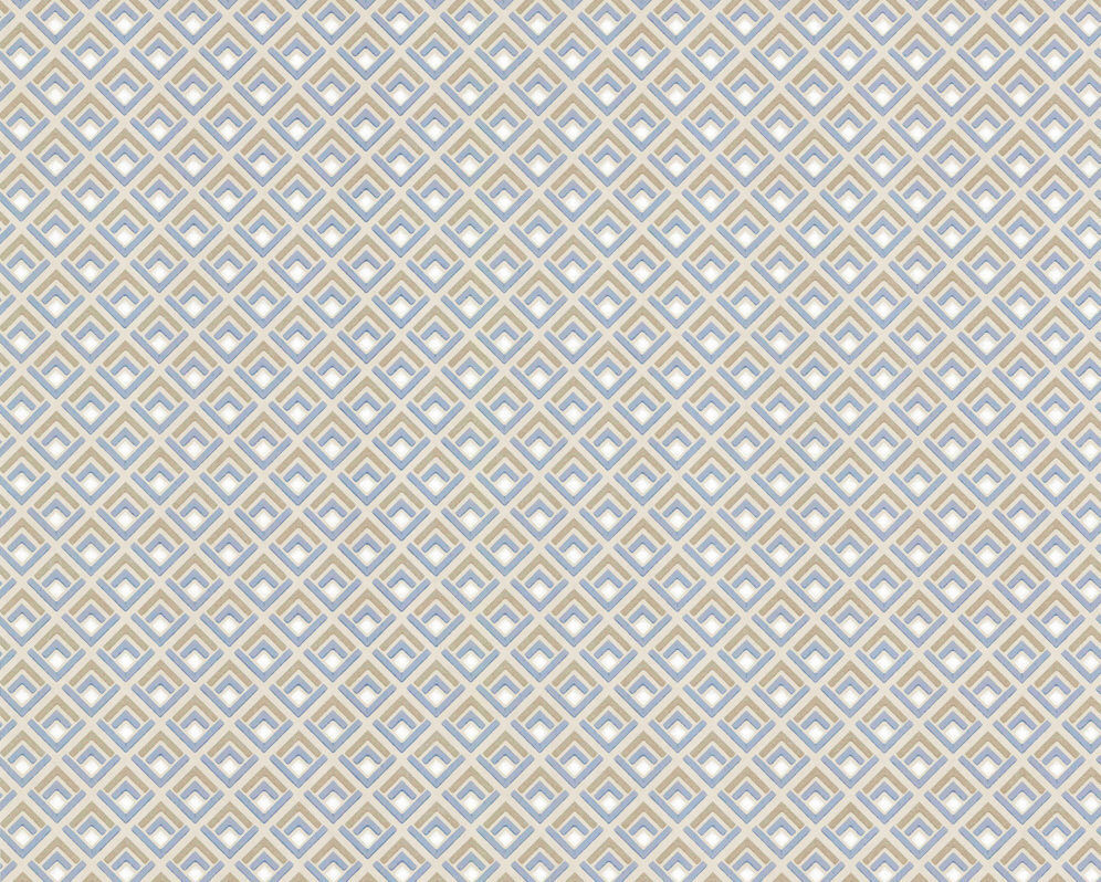 1703-112-03 - Camellia Geometric Denim bluee 1838 Wallpaper
