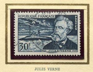 Stamp / Timbre France Oblitere N° 1026 / Celebrite / Jules Verne Cote 6 €