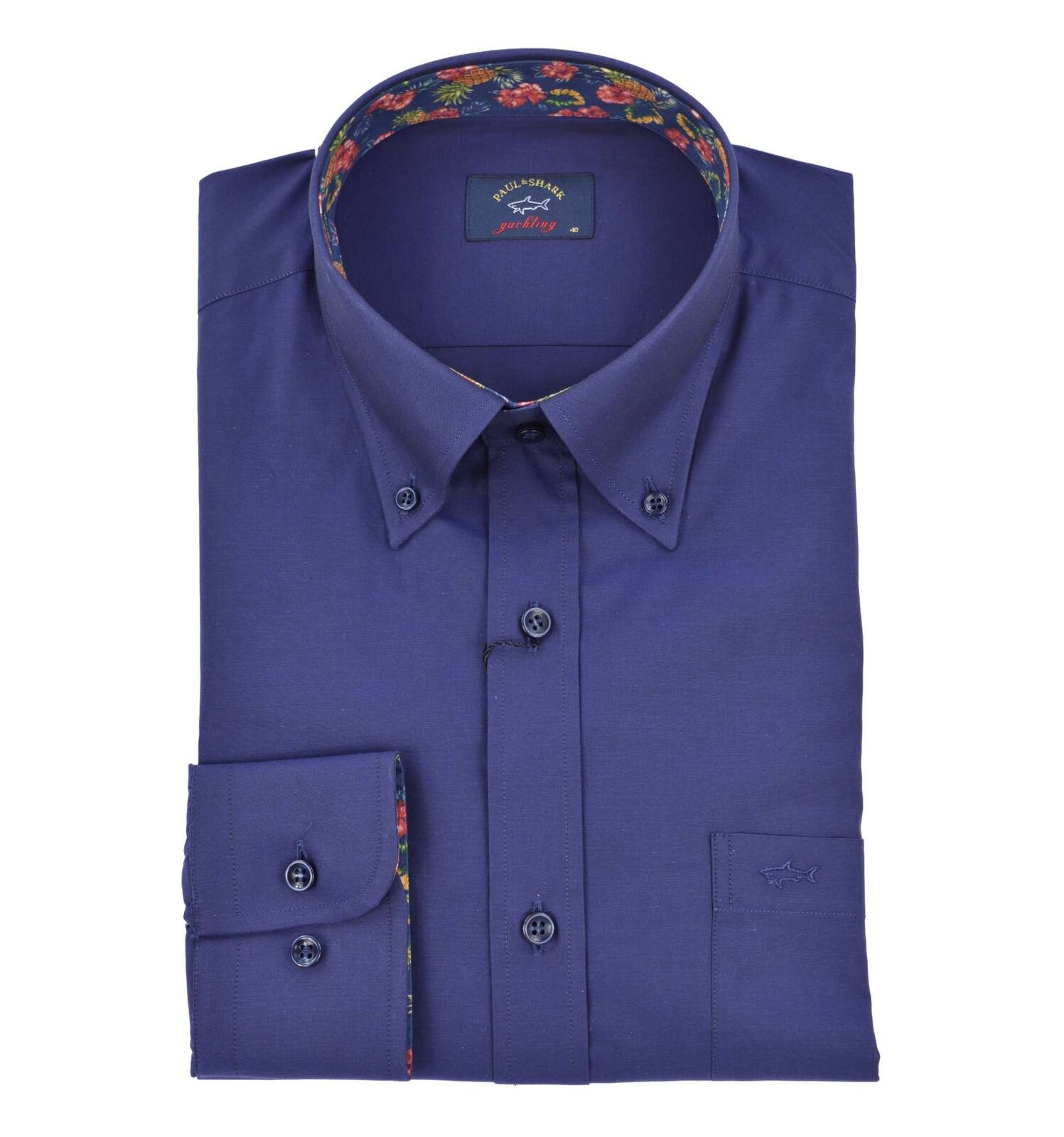 PAUL & SHARK uomo camicia button down blu scuro P19P3286 064