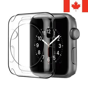 For Apple Watch 1 2 3 4 5 6 SE Case - Clear Thin TPU Transparent Soft Back Cover