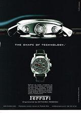 PUBLICITE ADVERTISING 094  2008  FERRARI  collection montre DP XII chrono