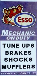 MECHANIC-ON-DUTY-ESSO-TIGER-ALL-WEATHER-METAL-SIGN-AGED-LOOK-600X300