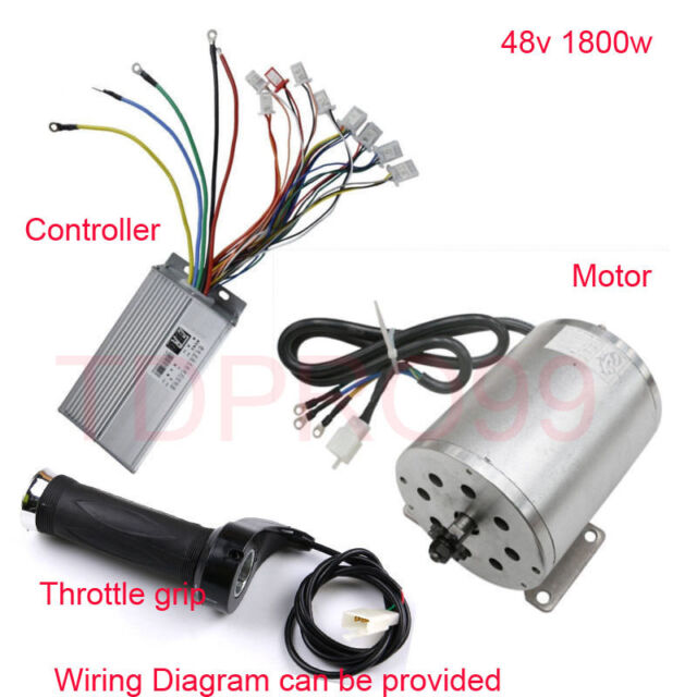 1800w 48v Brushless Electric Motor Speed Controller Throttle Grip