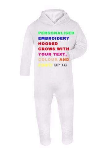 Navidad Regalo De Cumpleaños Nuevo Bebé Traje Tu Texto Personalizado con capucha bebé crezca
