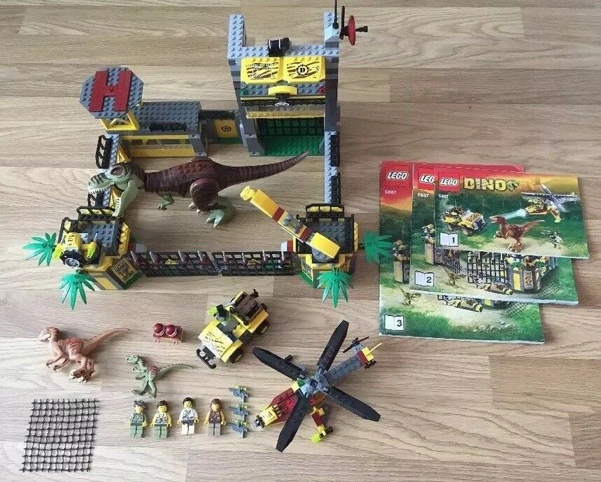LEGO Dino Defence HQ Set 5887 - Retired-Complete Included T-Rex Dinosaur