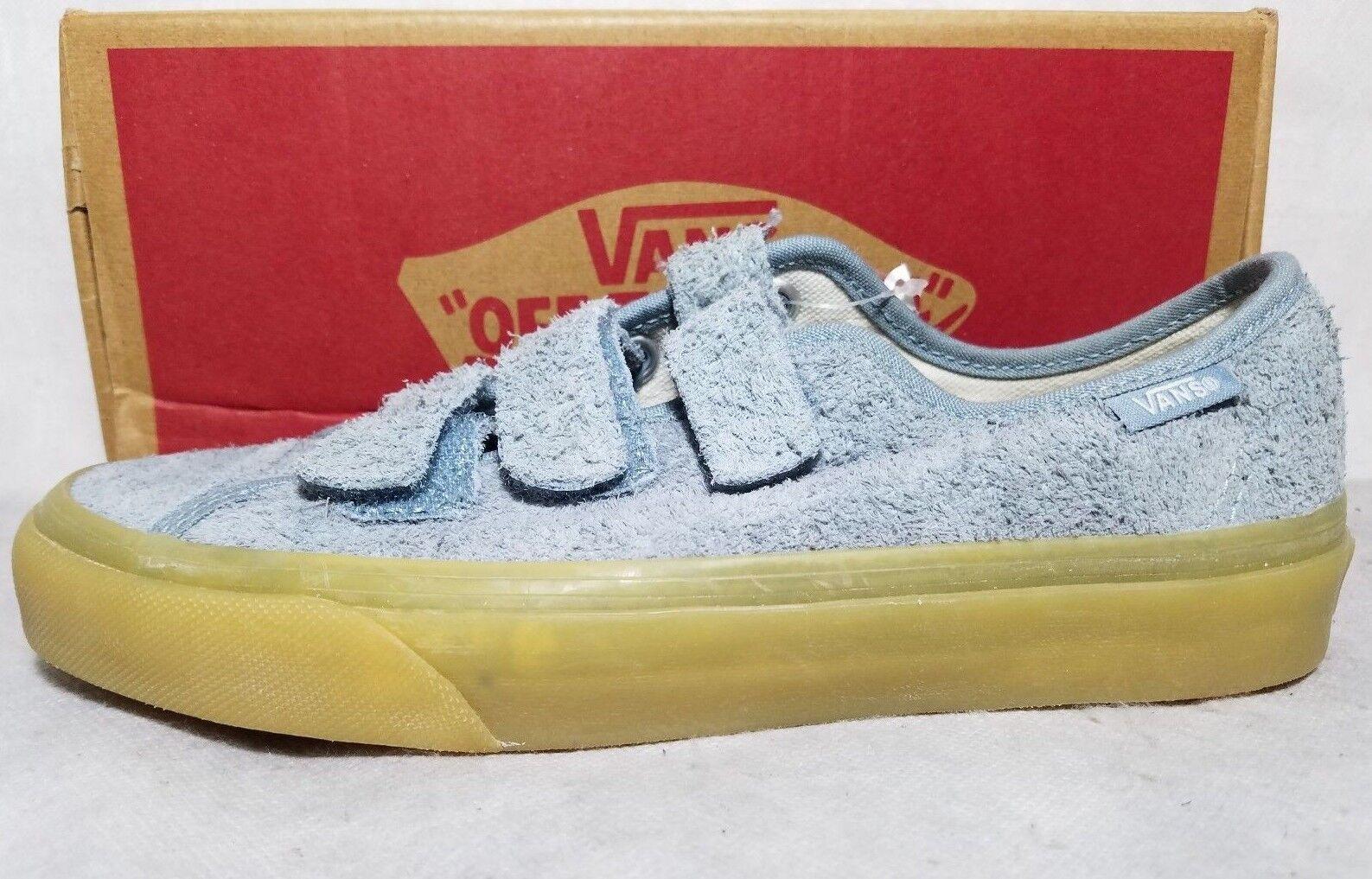 New Vans Fuzzy Blue Suede Gum Arona Prison Issue Strap Skate Shoe Women Size 6.5