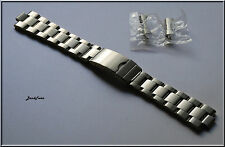 20mm Curved End OYSTER Solid Stainless Steel bracelet Screws Links 4 most Watch