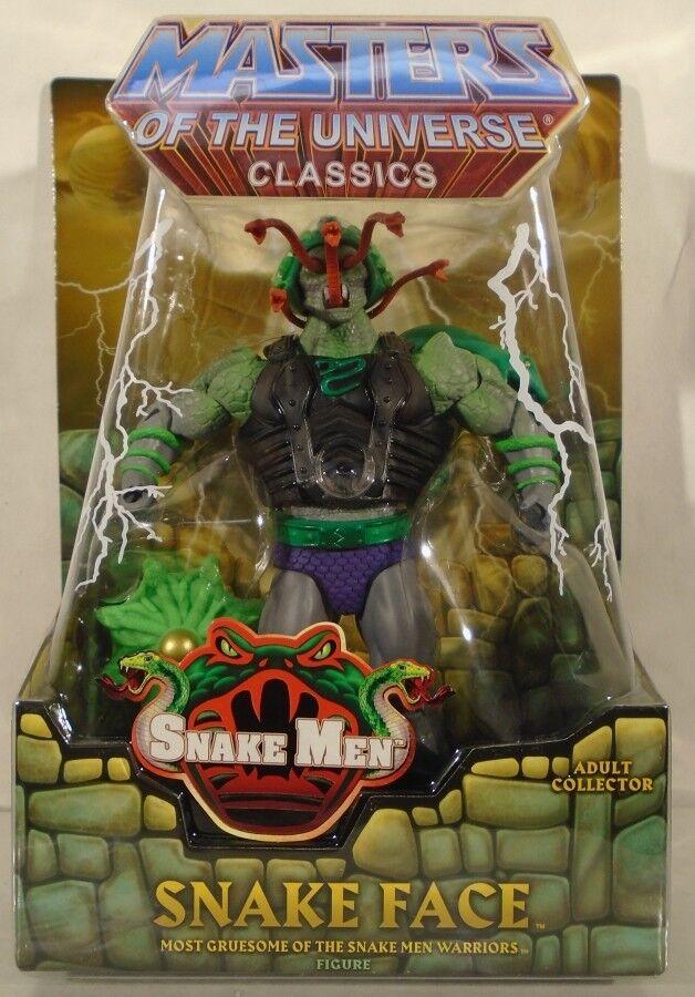 Masters Of The Universe Classics Mattel Snake Face Snake Men Mattel Classics MOC With Mailer 2260e7