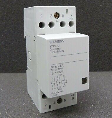 Siemens 5TT5 7300 Insta Schütz Contactor 230V~ 220V Installationsschütz 24A 4kW