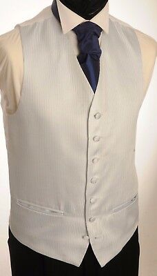 Verantwortlich Cw34 Mens/boys Powder Blue Pinstripe Waistcoat / Dress/ Suit / Formal ZuverläSsige Leistung