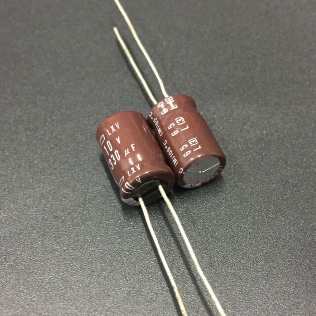 200pcs 50V 330uF 50V NCC Nippon LXV 10x30mm Low impedance Capacitor