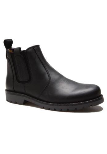 Newton Mens Scarpe pelle nere Biker Chelsea Boot in On Wrangler Cowboy Boots Slip qgxpTwT5