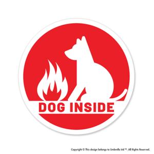 Dog Inside Emergency Animals Sticker Pets Love Bumper Car Vinyl