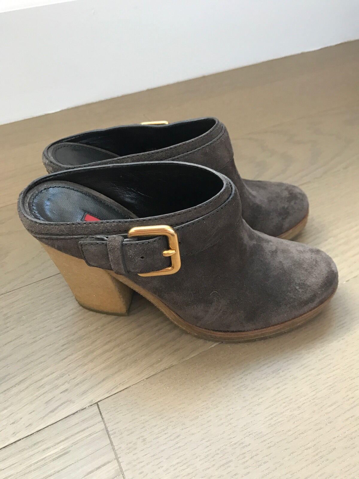 Prada Suede Clogs Size 35.5