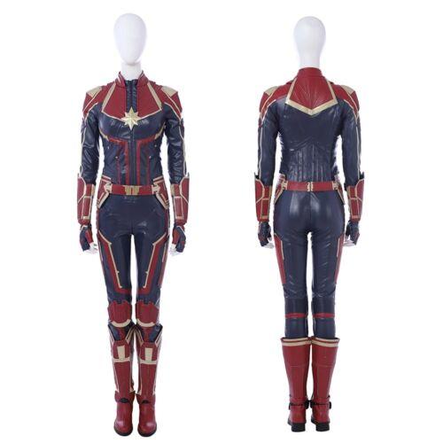New Captain Marvel Carol Danvers Cosplay Costume Uniform