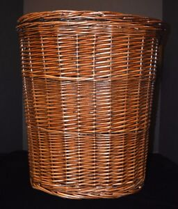 Details About Vtg Large Wicker Laundry Basket Hamper W Lid Euc Willow