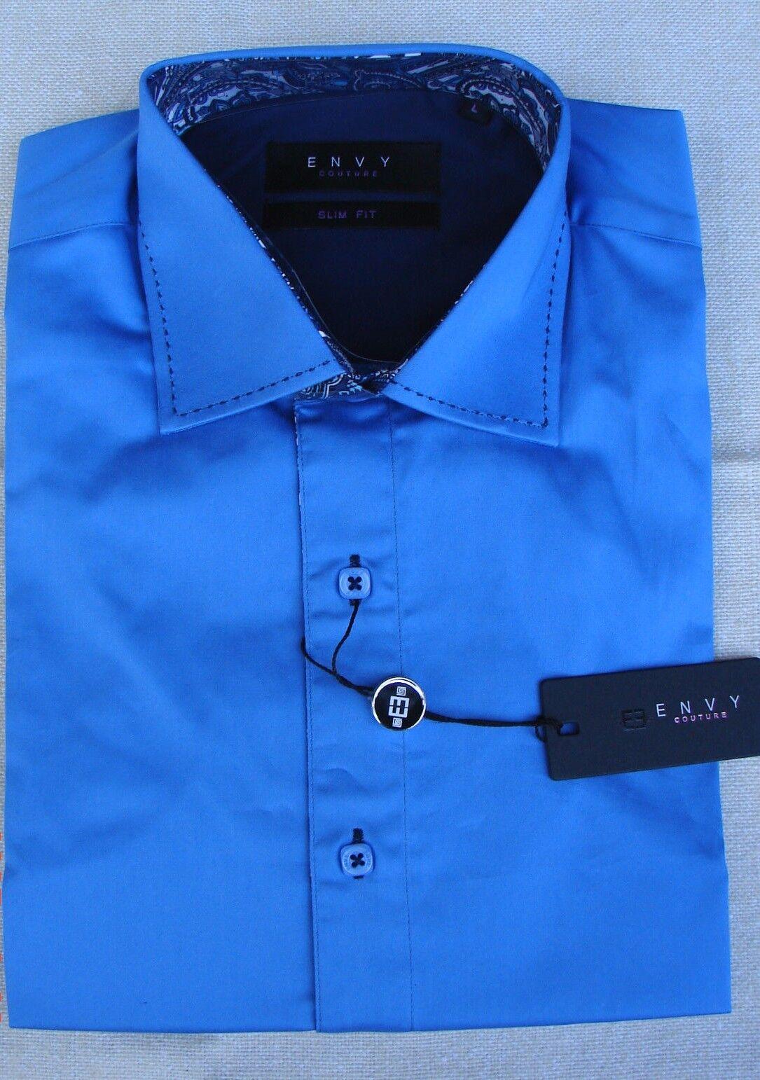 ENVY REVOLUTION Long Sleeve Slim Fit Men's Shirt size L.