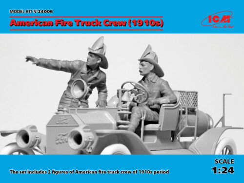 Neu ICM 24006-1:24 American Fire Truck Crew 2 Figures 1910s