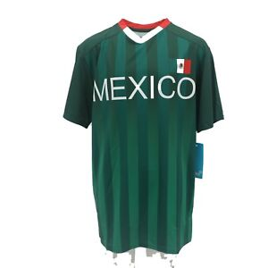 new product 392cd 67147 Details about Mexico National Team Football Official Apparel Adult Size  Athletic Shirt New
