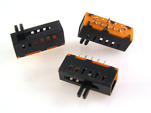 Slide-Switch-Single-Pole-5-Position-Miniature-PCB-Mount-SSW25PC-OM551-3-Pieces