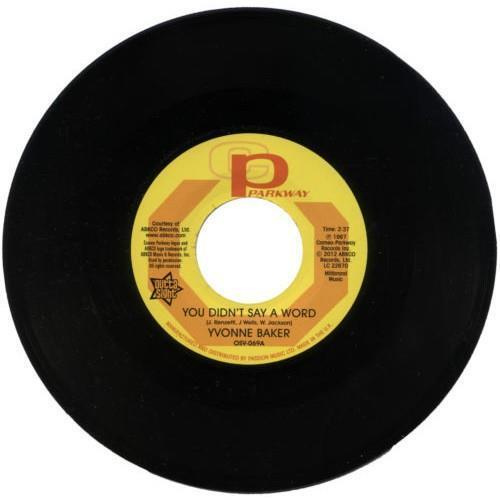 """YVONNE BAKER You Didn't Say A Word NEW NORTHERN SOUL 45 (OUTTA SIGHT) 7"""" Vinyl"""