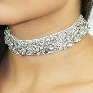 Kristin-Perry-Chunky-Rhinestone-Beaded-Deco-Bridal-Choker-Necklace