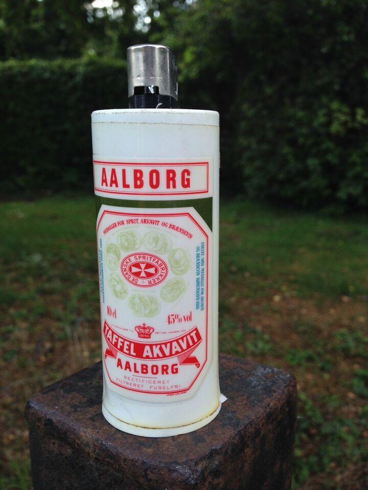 Fedt retro Lighter hylster, Lighter-etui fra Aalborg