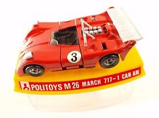 Politoys M26 March 717-1 Can Am #3 1/43 neuf en boite boxed