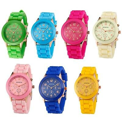 Womens Mens Watches Quartz Jelly Silicone Analog Sports New Ladies Wrist Watch