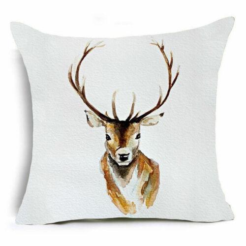 18/'/' HD Skull Elephant Cotton Linen Pillow Cases Sofa Cushion Covers Home Decor