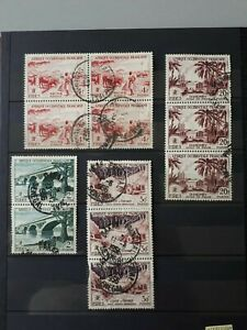 Timbres-Afrique-Occidentale-francaise-1934-1959-YT-n-55-57-60-61