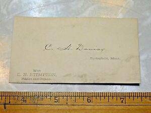 1880s C H Dauist C N Stimpson Pianos Organs Victorian Business
